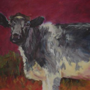 Moo, 30 x 40 Acrylic on canvas. Sold.